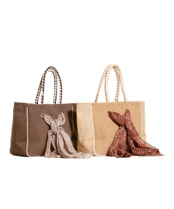 Natural Braided Rope Tote