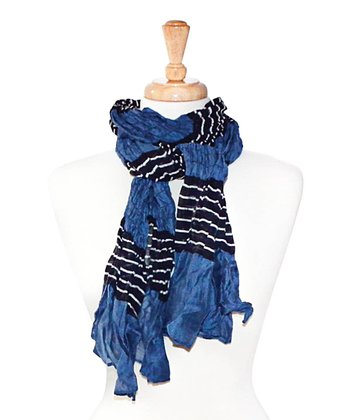 Blue & Black Stripe Scarf