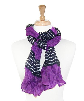 Purple & Black Stripe Scarf