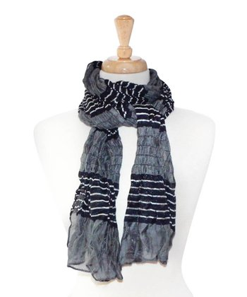 Gray & Black Stripe Scarf
