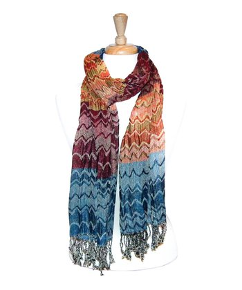 Orange Zigzag Scarf