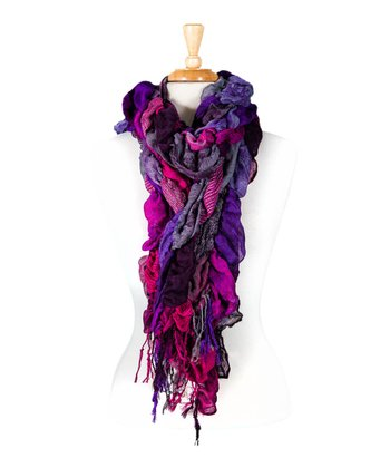 Purple Bubble Scarf