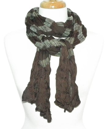 Brown Vibrant Stripe Scarf