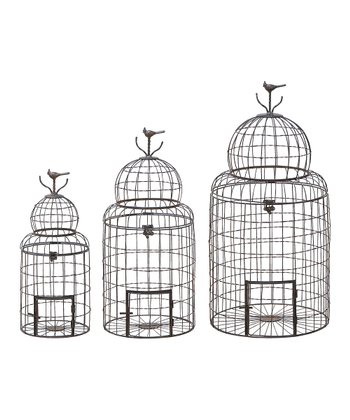 Metal Bird Cage Set