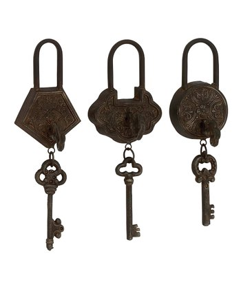 Ornate Padlock & Key Set