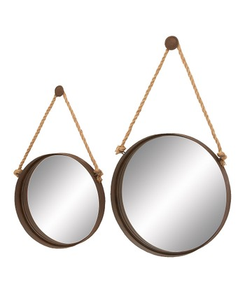 Round Hanging Mirror Set