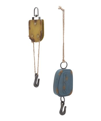 Yellow & Blue Hanging Hook Set