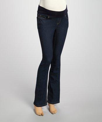 Mom & Co. True Dark Denim Maternity Jeans - Women