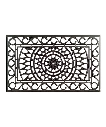 Black Sunrise Doormat