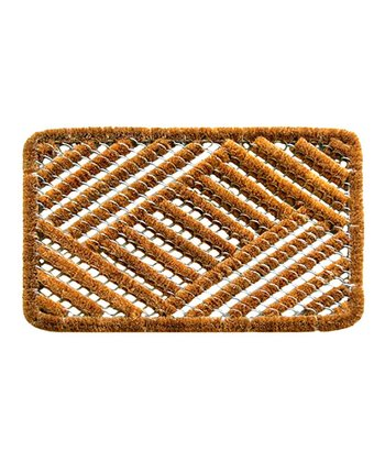 Overlapping Cross-Hatch Doormat