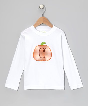 White Pumpkin Initial Tee - Infant, Toddler & Boys