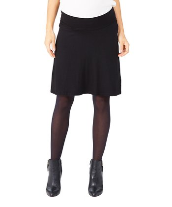 Black Ivane Under-Belly Maternity Skirt