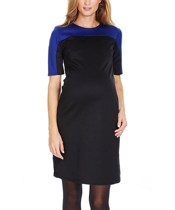 Blue Nala Maternity Shift Dress