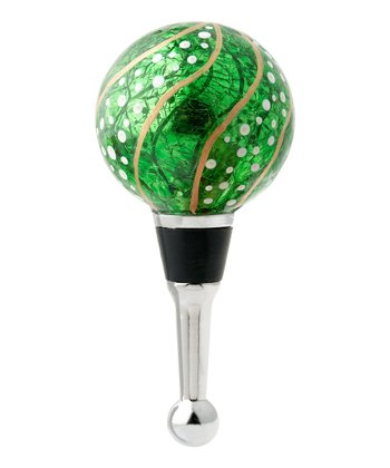 Green Swirl Ornament Bottle Topper