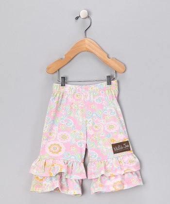 Pink Stephanie Big Ruffle Pants - Infant & Girls