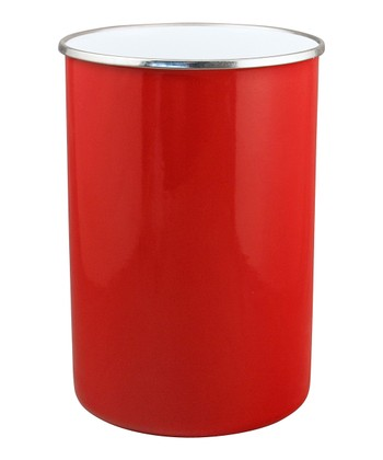 Red Steel Utensil Holder