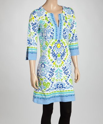 Blue & Green Paisley Tunic