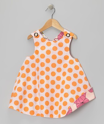 Orange Polka Dot Owl Reversible Jumper - Infant, Toddler & Girls