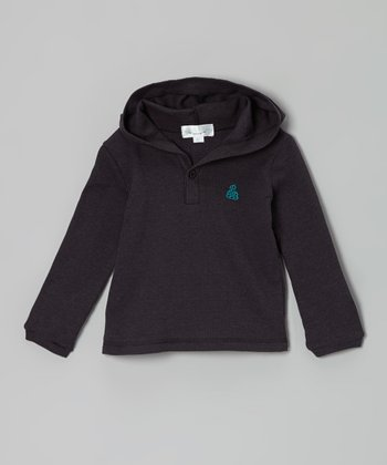 Gray Thermal Hoodie - Toddler