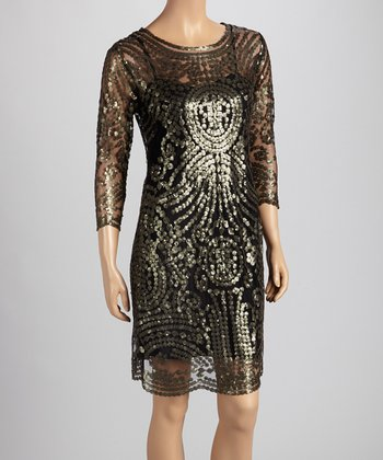 Emerald Sequin Dress - Women
