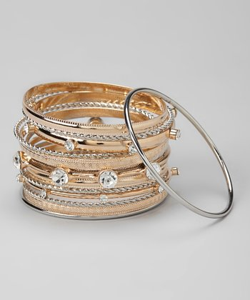Gold & Silver Bangle Set
