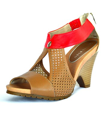 Bronze & Lava Aspire Leather Sandal