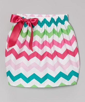 Pink, Blue & Green Zigzag Skirt - Infant, Toddler & Girls