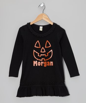 Black Pumpkin Personalized Dress - Infant, Toddler & Girls