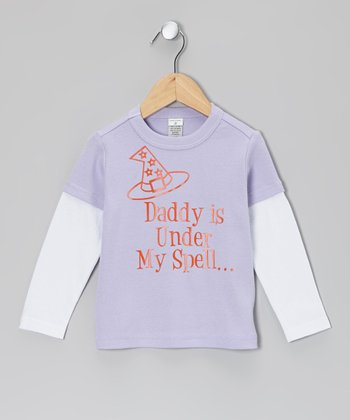 Lavender 'Daddy' Layered Tee - Infant, Toddler & Girls