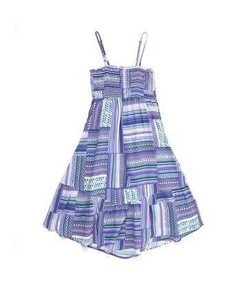 Lavender Abstract McKayla Dress