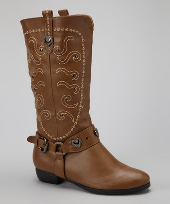 Camel Embellished Cowgirl Boot