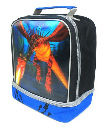 Blue & Black Dual-Compartment Lunch Kit