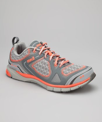Gray & Orange Avert Sneaker - Women