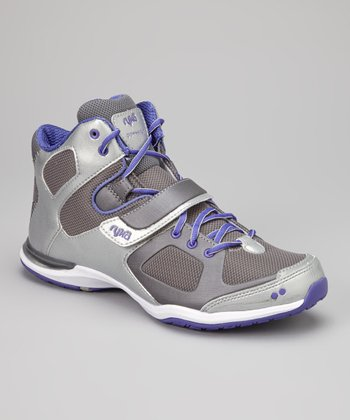 Silver & Purple Downbeat Cross-Training Shoe