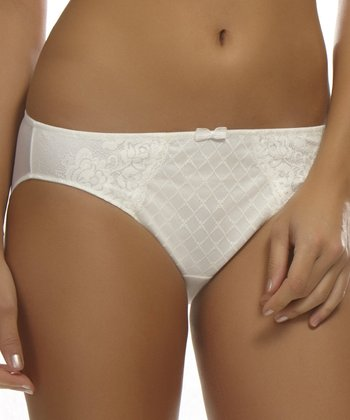 Ivory French Cut Bikini Briefs