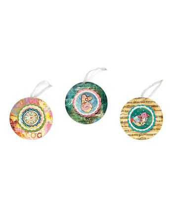 Round Paper Ornament Set