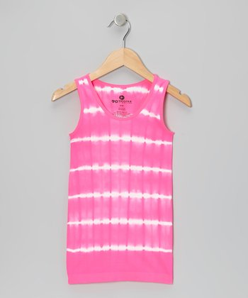 Shocking Pink Tie-Dye Tank