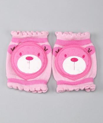 Skidders Pink Bear Gripper Knee Pads