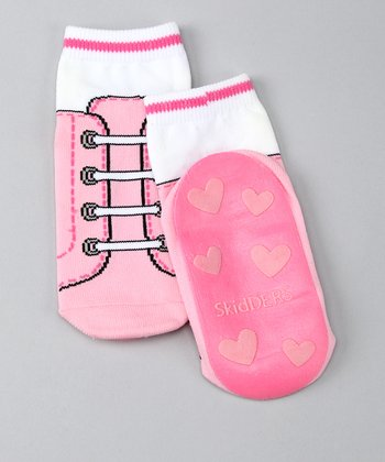 Carnation Sneaker Gripper Socks