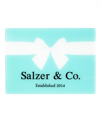 Blue Tiffany-Inspired Personalized Cutting Board