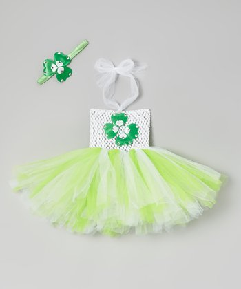 Green Leprechaun Tutu Dress & Headband - Infant