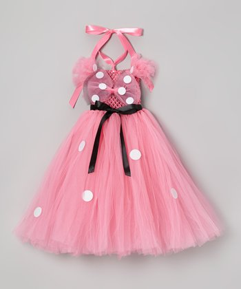 Pink Mouse Tutu Dress & Bow Clip - Infant, Toddler & Girls
