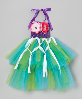 Green & Turquoise Mermaid Tutu Dress - Infant, Toddler & Girls