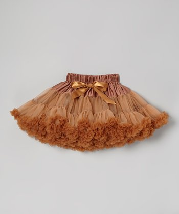 Brown Pettiskirt - Infant, Toddler & Girls