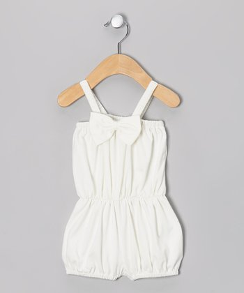 White Bubble Romper - Infant & Toddler