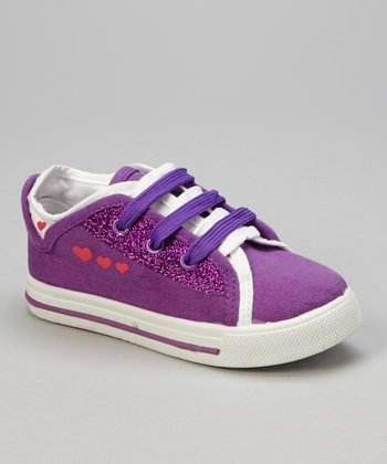 Purple & Pink Heart Sneaker