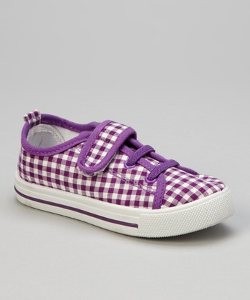 Purple Gingham Sneaker