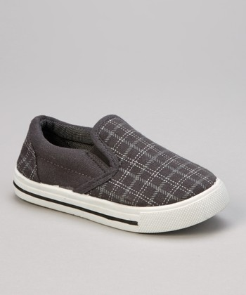 Gray Plaid Slip-On Sneaker