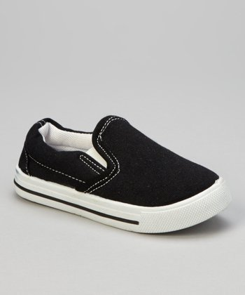 Black & White Stitch Slip-On Sneaker