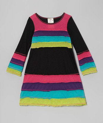 Black Horizon Dress - Toddler & Girls